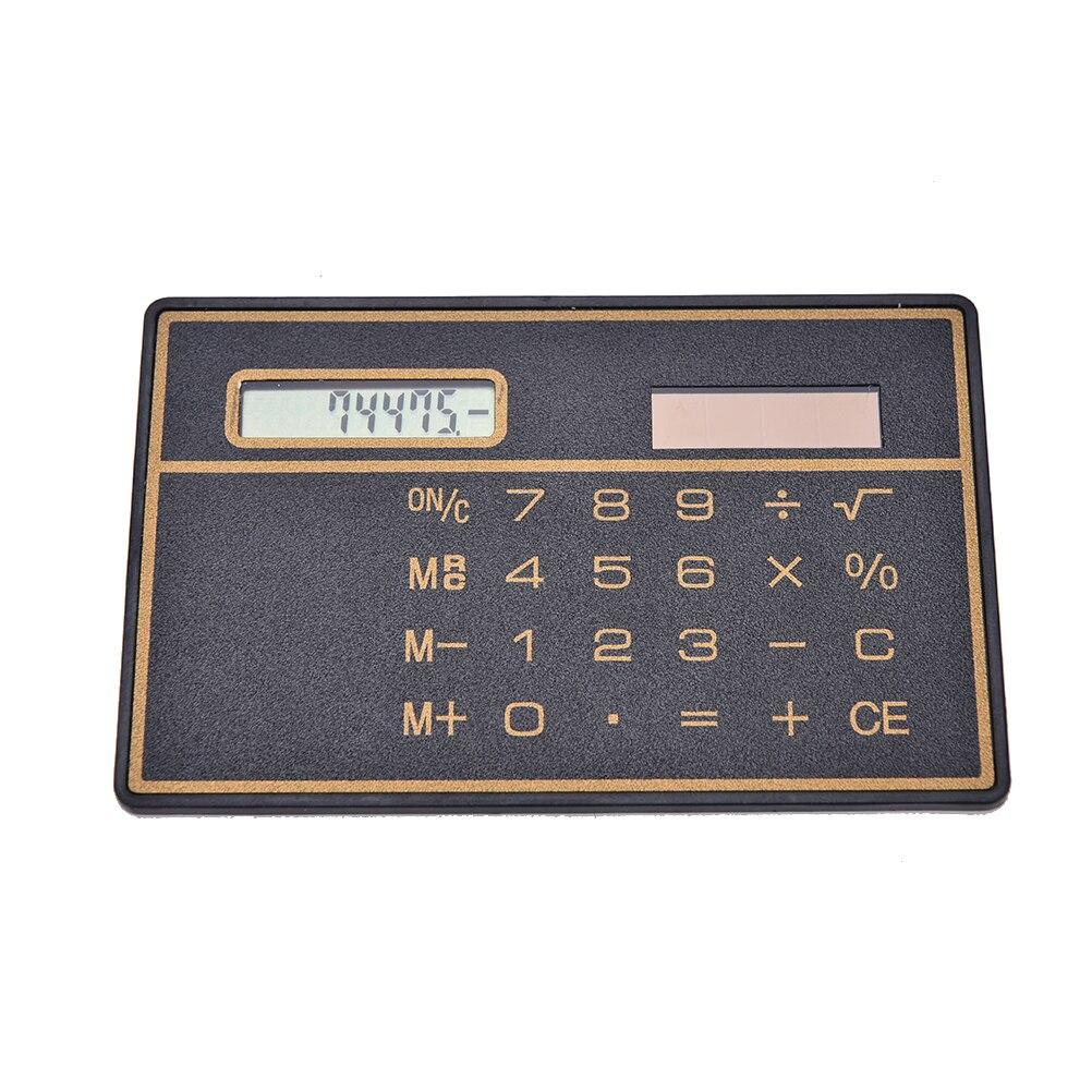 1PC  Special Hot and Convinient Calculators Cheap Mini 8 Digits Slim Credit Card Solar Power Pocket Calculator