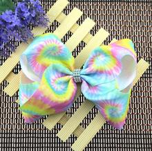 30pcs Free Shipping 8 inch jojobow Super Large Big Rainbow Bows Alligator Hair Clips for Girls Kids Teenagers(China)