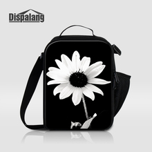 Dispalang Unique Flower Printing Lunch Bags For Girls Mini Portable Organizer Food Storage Floral Cooler Bag For School Lunchbox