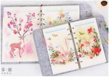 5Sheets/lot 2017 Diary Notebook Accessories Creative Retro A5/A6 Spiral Dividers Planner Filler Paper Matching Dokibook Filofax
