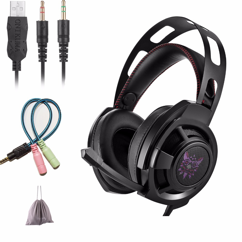 KOTION Each M190 Gaming Headphones with Microphone for Computer Best PC Gamer Headset Game Casque Bass Stereo Earphone<br>