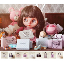 1 PCS Fashion 1/6 Doll's Paper Shopping Bag for Pullip, Barbies, Blyth, Momoko Doll Accessories Toy(China)