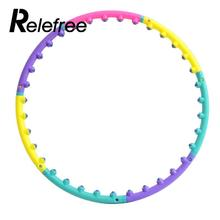 Fitness Lightweight Magnet Hula Hoop Detachable Ring Tube Circle for Waist Slimming Crossfit Health Body Building Equipment(China)