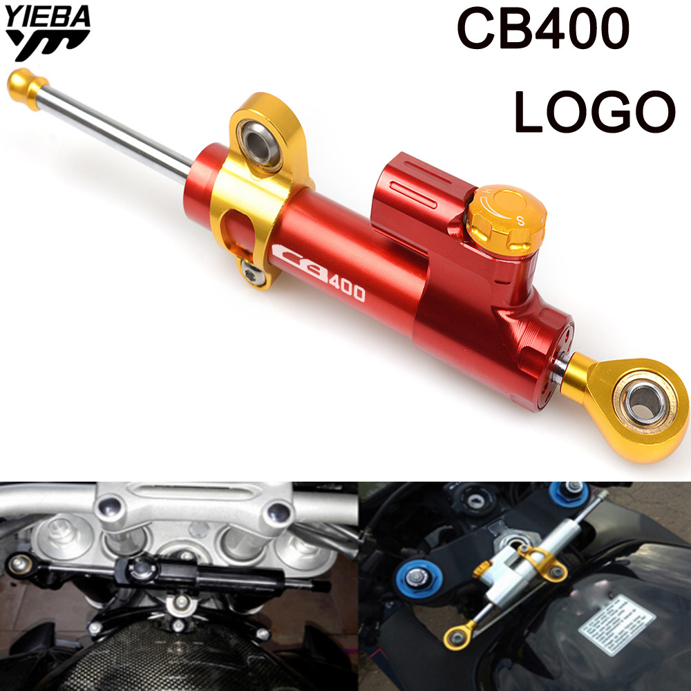 For HONDA CB400 CB 400 CB400F CB 400F CB400SF FOR CB400 LOGO Universal Motorcycle CNC Steering Dampers Stabilizer Safety Control
