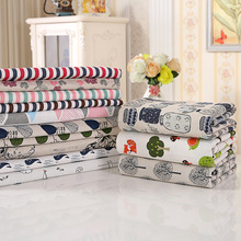 Small fresh cloth cotton and linen tablecloth creative striped pattern rectangular table cloth(China)