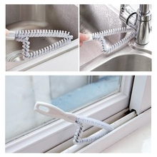 100pcs Wholesale Hand-held  Doors Groove Cleaning Brush Kitchen Window Outlet Oven Wire Brush Tube Cleaning Brush ZA0422