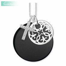 Necklace Ornament Cross Trendy Gift For Women & Men, Thomas Style Soul Jewelry TS 925 Sterling Silver Fashion Jewelry Wholesale(China)