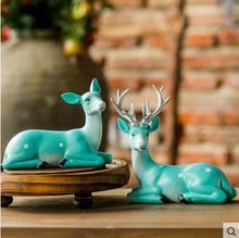 Resin animal elk, American country Home Furnishing desktop accessories, small ornaments, Christmas gift