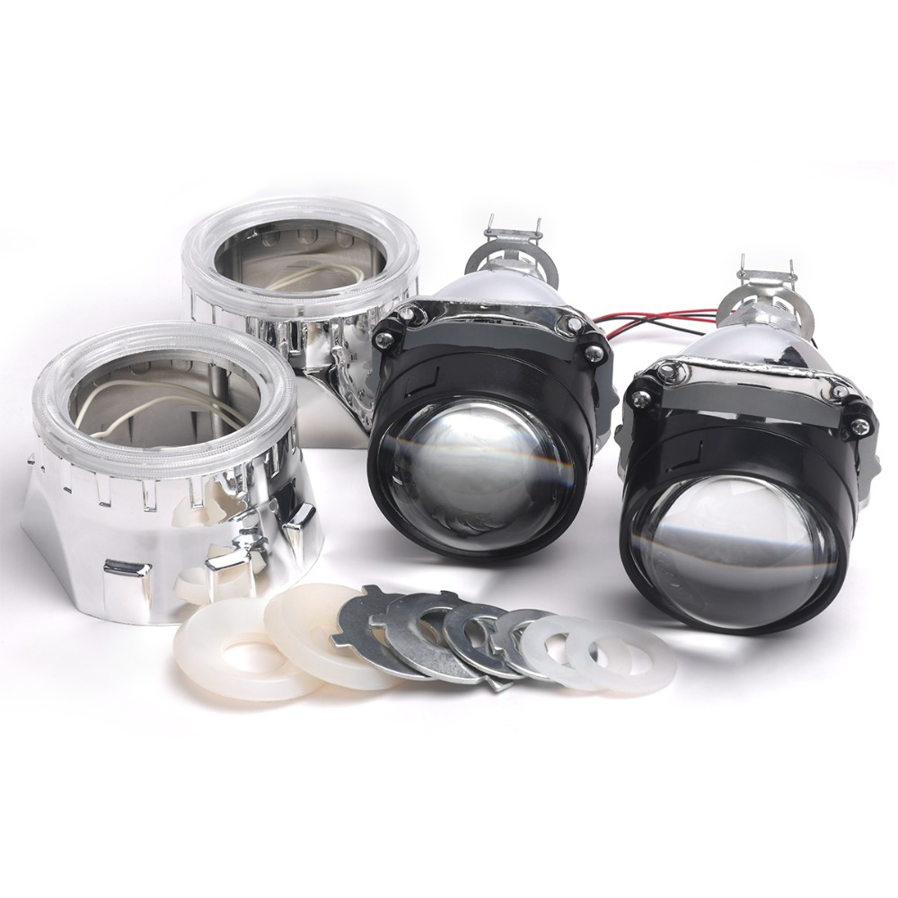 Hot Sale 2.5 Inch Bi-Xenon Hi/Lo for HID Projector Kit Conversion Lens Angel Eye CCFL Halo for Car Auto Headlight<br>