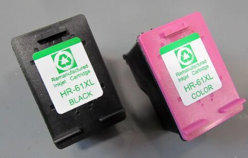 1set for Hp 61XL Black CH563WN + Couleur CH564WN Remanufacture ink Cartridge<br><br>Aliexpress