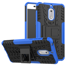 For NOKIA 6 Case 5.5'' for Nokia6 Cover Rugged Armor Mobile Phone Cases Hard PC & TPU Hybrid Kickstand Back Cover