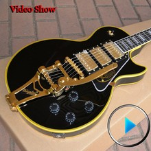 Custom Shop 1957 VOS 3 Pickup with Bigsby yellow bindings guitar musical instruments chinese electric guitar free shipping