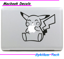 Pokemon Cartoon Pikachu Eat Sticker for Apple Macbook Skin Air 11 13 Pro 13 15 17 Retina Laptop Wall Car Vinyl Logo Decal