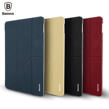Baseus Leather Case For iPad 9.7 inch 2017 Ultra Thin Slim 4 Holder Angel Flip Smart Cover Case For New iPad 9.7 A1822 Coque