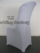 White Color Spandex Chair Cover Used For Plastic Chair Free Shipping(China)
