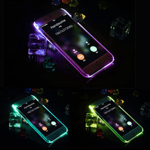 LED Flash Light Up Case Remind Incoming Call Cover For Samsung Galaxy A3 A5 j3 2016 J5 J7 Prime Note 4 5 S6 S7 Edge S8 Plus