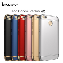 iPaky Cover for Xiaomi Redmi 4X Case Metallice Frame PC Hard Back Hybrid Case for Xiaomi Redmi 4X Cover 3 in 1 Protective Shield(China)