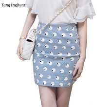 Buy 2018 Summer New Bag Hip Skirt Ladies Slim Mini Skirt Popular Harajuku Printed Zipper Urban Casual Style Short Skirt for $11.78 in AliExpress store
