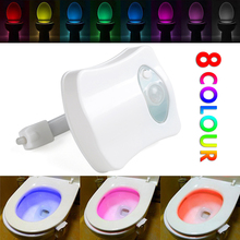 2017 New 8 Colors LED Toilet Night light Motion Activated Sensor ToiletLight Sensitive Battery-operated Lamp 3d tooth lamp HOT(China)