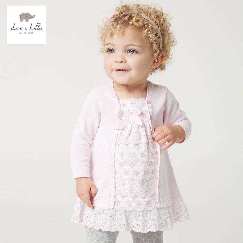 DB5136 dave bella spring baby girl fairy dress infant clothes girls peri dress baby birthday dress kid clothes cute sweat  dress<br>