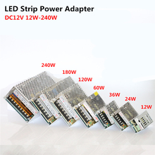 12V LED Driver AC110V/220V to DC12V 1/2/3/5/10/15/20A Power Supply Adapter 12W-240W Lighting Transformer for LED Strip/CCTV
