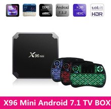 Mesuvida X96 Mini Android 7.1 Smart TV BOX 2GB RAM Amlogic S905W Quad Core 4K WiFi 2.4GHz X96mini IPTV Set-Top Box Media Player
