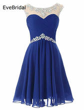 Stock Short chiffon A Line Scoop Crystal beading Knee Length Bridesmaid Dresses Wedding party dresses  robe de soiree