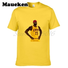 Lebron James #23 Cleveland Men T-shirt Clothes Short Sleeve T SHIRT Men's Fashion Comic Cartoon W0218005(China)