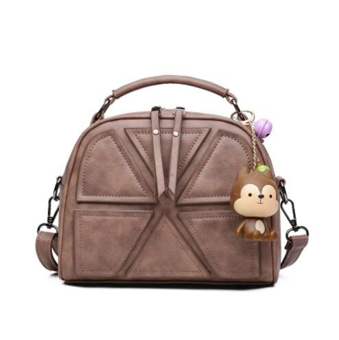 Women bag Women messenger bags New luxury brand female fashion handbags retro bear one shoulder pack his bags <br>