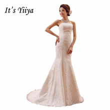Buy 2017 Plus size Lace Mermaid Train Wedding Dresses White Cheap Bride Gowns Custom Made Real Photo Vestidos De Novia XXN006 for $37.91 in AliExpress store
