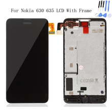 For Nokia Lumia 630 N630 635 N635 LCD Display Touch Screen Digitizer Assembly + Bezel Frame Replacements Part + Tools Free Ship