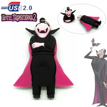 2016 new design Cartoon Vampire Dracula for Hotel Transylvania Pen drive 4g 8g 16g 32g Zombies usb flash drive memory stick(China)