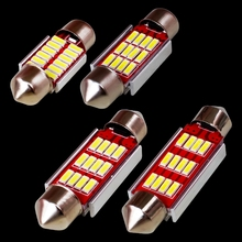 10PCS 31mm 36mm 39mm 41mm C5W C10W 12 SMD 4014 LED CANBUS NO ERROR Car Festoon Lights Auto Interior Dome lamps Reading Bulb 12V