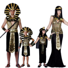 Egyptian Pharaoh Costumes For Purim Halloween Party Adults Clothing Egyptian Pharaoh King Men Fancy Dress(China)