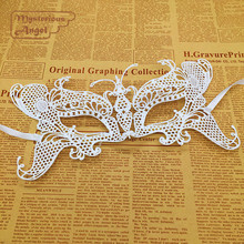 White Butterfly Mask Lace Party Sexy Mask Masquerade Dress Venetian Carnival free shipping
