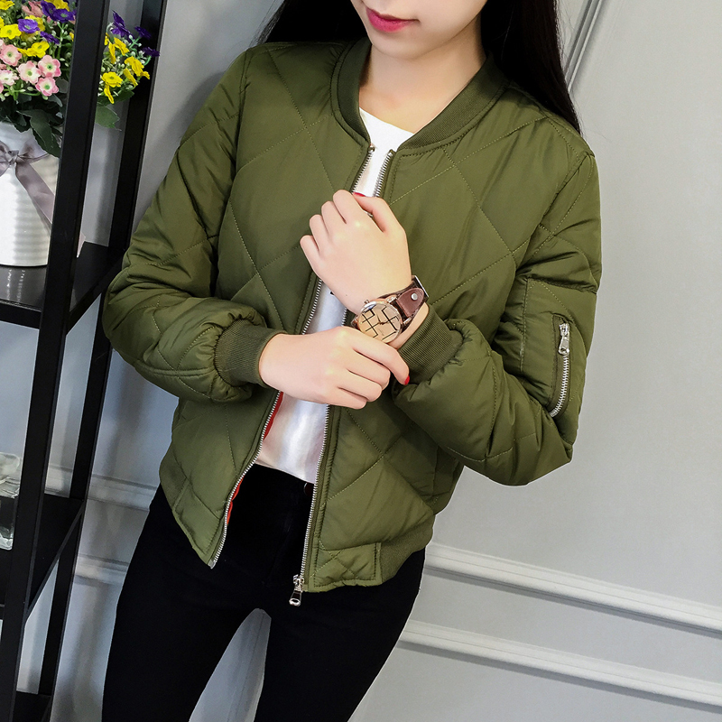2017 New arrival women down jackets six colors cotton diamond-shaped large square grid jackets Korean all-match winter jacketsОдежда и ак�е��уары<br><br><br>Aliexpress