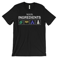 T Shirt Men 2017 Fashion High Quality Main Ingredients Men's Beer T-Shirt Size LARGE