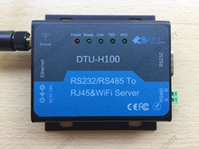 DTU-H100 RS232/RS485 к RJ45 и Wi-Fi сервер, применение станков с ЧПУ, автоматические линии производства, железнодорожные перевозки(China)