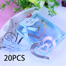 20PCS Bulk Hollow My Heart Bookmark For Party Favor Baptism Baby Bridal Shower Souvenirs Wedding Favors and Gifts For Guest