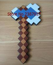 2017 Newest design minecraft diamond foam Axe 40*20cm Soft EVA Game weapons for Children s present H-668(China)
