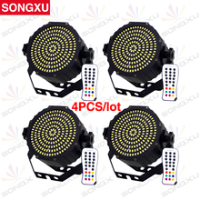 SONGXU 4pcs/lot Wholesae 189 LED Infrared Ray Strobe Par Light LED Par Can Light with Remote Control/SX-IRSP189