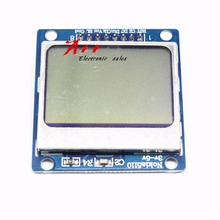 Free shipping 10pcs blue 84X48 Nokia 5110 LCD Module with blue backlight with adapter PCB(China)