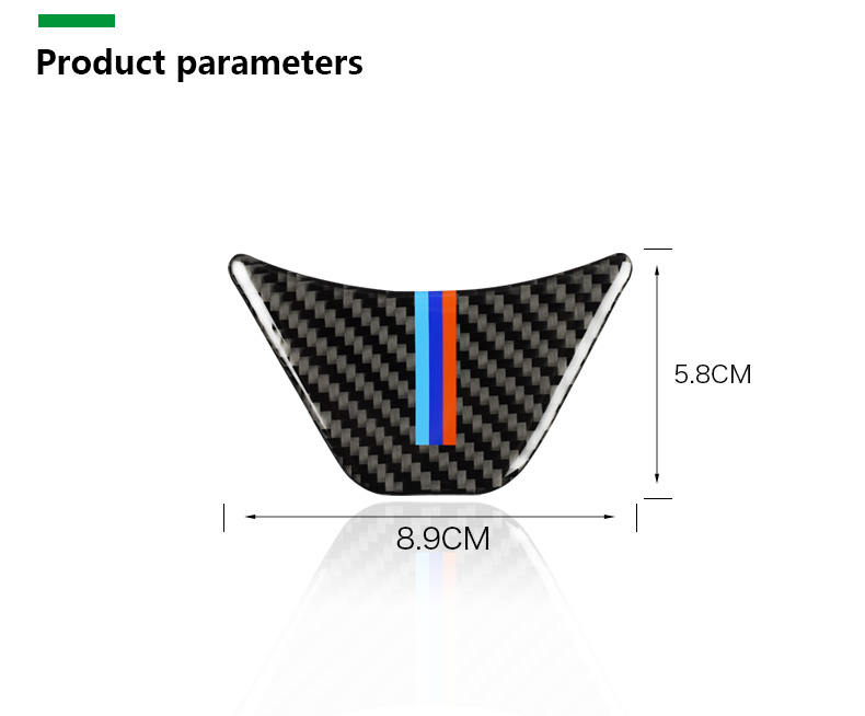 for BMW X1 F48 2016 Carbon Fiber Car Steering Wheel Stickers M Sport for 1 Series F52 F45 F46 Accessories Car Styling (10)
