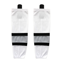 COLDINDOOR 100% Polyester blue custom hockey jersey Ice Hockey Socks Cheap Shin Guards XW042(China)