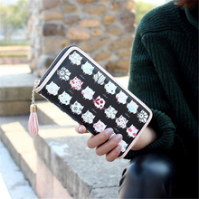 xiniu 2017 Hot Sale Long Bags Women Animal Print Purse High Quality Pu Leather Luxury Panelled Wallet Fashion Zipper Clutch