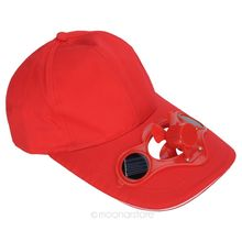 Black Solar Power Hat Cap with Cooling Fan for Golf Baseball Wholesale