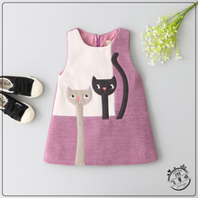 Character Girls Dresses Cute Kids Vest Dresses Sleeveless Fashion High-quality Goods Princess Dress 2-6y Girl Clothes(China)