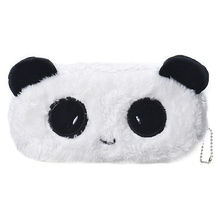 Kids Cartoon Pencil Case Plush Large Pen Bag Cosmetic Makeup Cartoon Storage Bag panda(China)