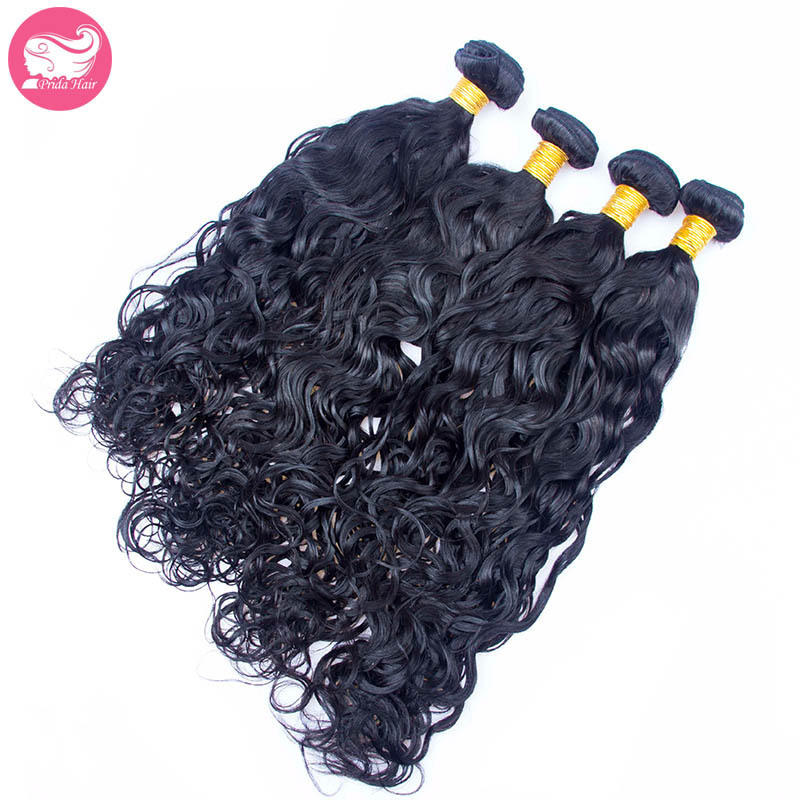 Water Wave Malaysian Human Hair Weave 7A Unprocessed Wet and Wavy Malaysian Virgin Hair Bundles 4Pcs Lot Human Hair Extensions<br><br>Aliexpress