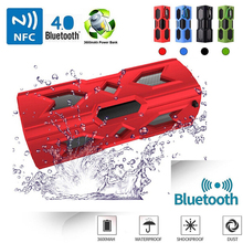 Waterproof parlantes bluetooth Speaker NFC portable power bank Subwoofer wireless kalonki speakers for the computer notebook